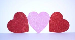 Καρδιές αγάπης ημέρας βαλεντίνων στοκ εικόνες με δικαίωμα ελεύθερης χρήσης