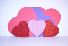 Καρδιές αγάπης ημέρας βαλεντίνων στοκ φωτογραφία