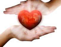 Καρδιές αγάπης σε έναν πάγκο Στοκ εικόνες με δικαίωμα ελεύθερης χρήσης