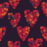 καρδιές ανασκόπησης άνευ & διάνυσμα Στοκ φωτογραφία με δικαίωμα ελεύθερης χρήσης