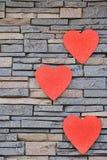 Καρδιές βαλεντίνων καρδιών Στοκ Εικόνες