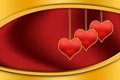 Καρδιές βαλεντίνων Στοκ εικόνες με δικαίωμα ελεύθερης χρήσης