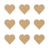 Καρδιές εγγράφου τεχνών Στοκ εικόνες με δικαίωμα ελεύθερης χρήσης