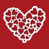 Καρδιές εγγράφου Στοκ φωτογραφίες με δικαίωμα ελεύθερης χρήσης