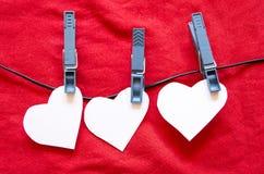 Καρδιές εγγράφου Στοκ φωτογραφία με δικαίωμα ελεύθερης χρήσης