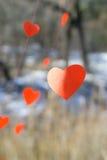 Καρδιές εγγράφου στοκ εικόνες
