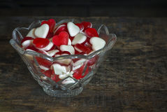 Καρδιές ζελατίνας φρούτων Στοκ Εικόνα