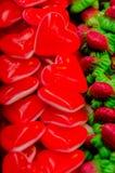 Καρδιές ζελατίνας στοκ εικόνες