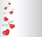 Καρδιές ημέρας βαλεντίνων με το υπόβαθρο κλίσης Στοκ φωτογραφία με δικαίωμα ελεύθερης χρήσης
