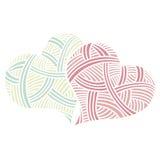 Καρδιές ημέρας βαλεντίνων doodle Στοκ Εικόνες