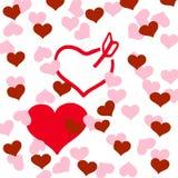 Καρδιές και αγάπη Στοκ φωτογραφίες με δικαίωμα ελεύθερης χρήσης