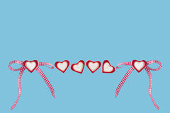 Καρδιές και βρόχος Στοκ φωτογραφίες με δικαίωμα ελεύθερης χρήσης
