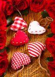 Καρδιές και λουλούδια Στοκ φωτογραφία με δικαίωμα ελεύθερης χρήσης