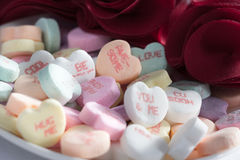 Καρδιές καραμελών ημέρας βαλεντίνου Στοκ εικόνα με δικαίωμα ελεύθερης χρήσης
