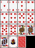 καρδιές καρτών που παίζο&upsilon Στοκ εικόνες με δικαίωμα ελεύθερης χρήσης