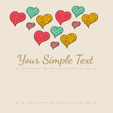 Καρδιές καρτών doodle Στοκ Φωτογραφίες