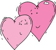 Καρδιές κινούμενων σχεδίων Στοκ Εικόνα
