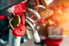 Καρδιές κλειδαριών μετάλλων Στοκ εικόνες με δικαίωμα ελεύθερης χρήσης