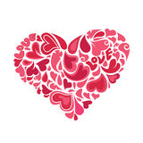 Καρδιές μέσα στο διάνυσμα καρδιών Στοκ εικόνα με δικαίωμα ελεύθερης χρήσης