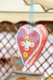 Καρδιές μελοψωμάτων Στοκ Εικόνες
