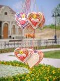 Καρδιές μελοψωμάτων Στοκ Φωτογραφία