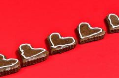 Καρδιές μελοψωμάτων Στοκ Φωτογραφίες