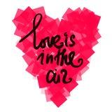 Καρδιές με τη δραστηροποίηση των αποσπασμάτων στο άσπρο υπόβαθρο διάνυσμα Στοκ Εικόνα