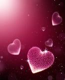 Καρδιές με το σπινθήρα Στοκ Εικόνα