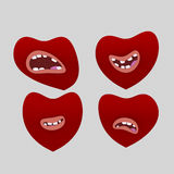 Καρδιές με το στόμα Στοκ Εικόνα