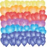 Καρδιές μπαλονιών, χαμηλό πολυ σχέδιο Στοκ φωτογραφία με δικαίωμα ελεύθερης χρήσης