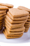 Καρδιές μπισκότων σε ένα πιάτο Στοκ Εικόνες