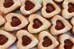 Καρδιές μπισκότων Στοκ φωτογραφίες με δικαίωμα ελεύθερης χρήσης