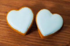 Καρδιές μπισκότων Στοκ Φωτογραφίες