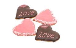 Καρδιές μπισκότων Στοκ Εικόνες