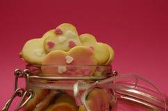 Καρδιές μπισκότων Στοκ Φωτογραφία