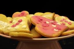 Καρδιές μπισκότων Στοκ Εικόνα