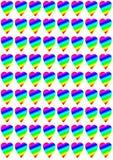 Καρδιές ουράνιων τόξων Στοκ εικόνες με δικαίωμα ελεύθερης χρήσης