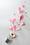 καρδιές λουλουδιών Στοκ εικόνες με δικαίωμα ελεύθερης χρήσης