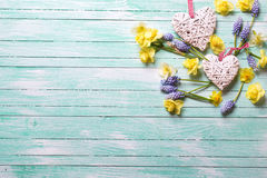 καρδιές λουλουδιών Στοκ φωτογραφία με δικαίωμα ελεύθερης χρήσης