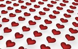 καρδιές πολύ κόκκινο Στοκ εικόνα με δικαίωμα ελεύθερης χρήσης