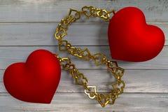 καρδιές που συνδέονται Στοκ φωτογραφία με δικαίωμα ελεύθερης χρήσης