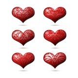 Καρδιές που τίθενται για την ημέρα του βαλεντίνου ελεύθερη απεικόνιση δικαιώματος