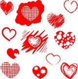 καρδιές που τίθενται δια Στοκ Εικόνες