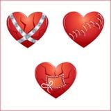 καρδιές που τίθενται Στοκ φωτογραφίες με δικαίωμα ελεύθερης χρήσης