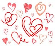 καρδιές που τίθενται διανυσματική απεικόνιση