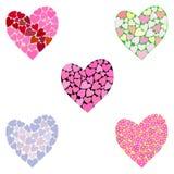 καρδιές πολύχρωμες Στοκ Φωτογραφίες
