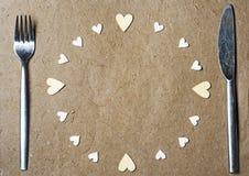 καρδιές πλαισίων που γίν&omicro Στοκ Φωτογραφία
