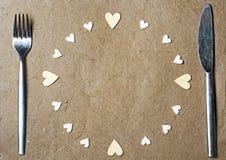 καρδιές πλαισίων που γίν&omicro Στοκ Φωτογραφίες