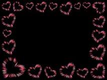 καρδιές πλαισίων Στοκ φωτογραφία με δικαίωμα ελεύθερης χρήσης