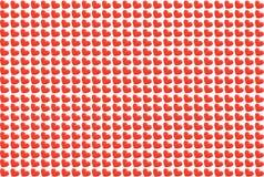 Καρδιές σε μια άσπρη ανασκόπηση Στοκ Εικόνα